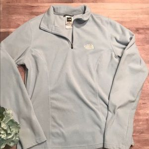The  North Face fleece pullover small tka 100 blue